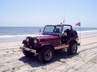 Jeep on the OBX Beach!